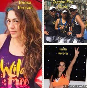 Zumba Fire Crew and Karla Rivera with Teresa Teresas